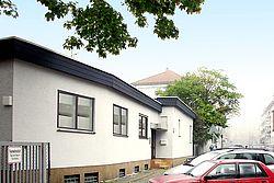 Gebäudeansicht KfH-Nierenzentrum für Kinder und Jugendliche Frankfurt