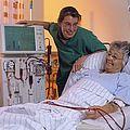 Patientin im Bett