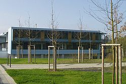 Gebäudeansicht KfH-Nierenzentrum für Kinder und Jugendliche Marburg