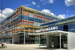 Gebäudeansicht KfH-Nierenzentrum für Kinder und Jugendliche Heidelberg