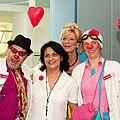 Clown-Besuch im Zentrum (mit Frau Dr. Montoya und Frau Schimmel)